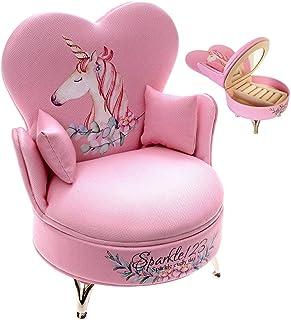 Sparkle123 Unicorn Kid Jewelry Box for Baby Girls –...