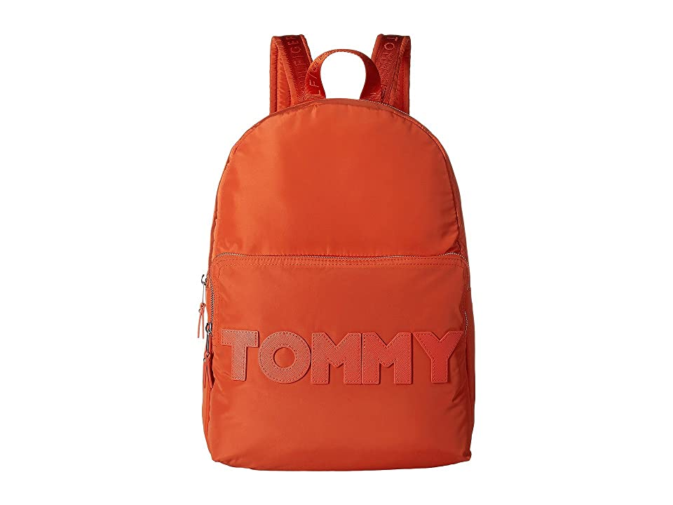 Tommy Hilfiger Tommy Nylon Dome Backpack (Fiesta Print) Backpack Bags