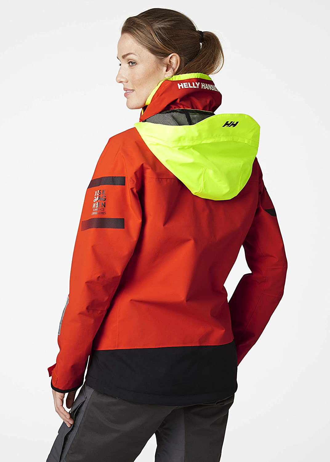 Quick Dry Helly Hansen Womens Skagen Offshore Sailing Yachting and Dinghy Coat Jacket Cherry Tomato