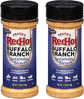 Franks Redhot Buffalo Ranch Seasoning Blend, (Buffalo Flavor), 4.75 oz (2 Pack)