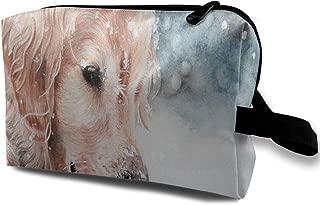Makeup Bag Golden Retriever Puppy Portable Travel Multifunction Toiletry Bags Hot Organizer For Women