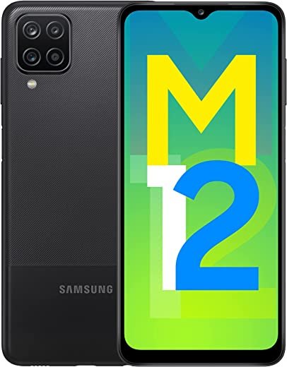 Samsung Galaxy M12 (Black,4GB RAM, 64GB Storage) 6000 mAh with 8nm Processor | True 48 MP Quad Camera | 90Hz...