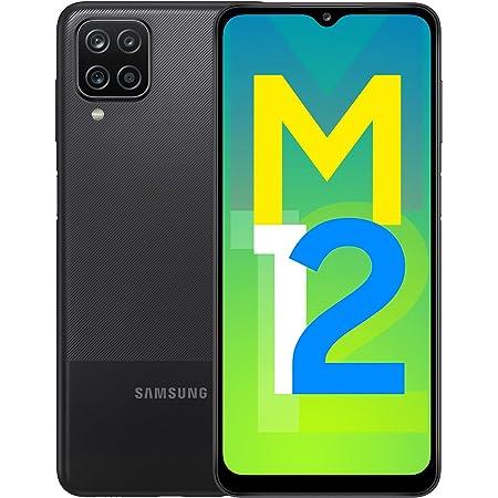 Samsung Galaxy M12 (Black,4GB RAM, 64GB Storage) 6000 mAh with 8nm Processor | True 48 MP Quad Camera | 90Hz Refresh Rate