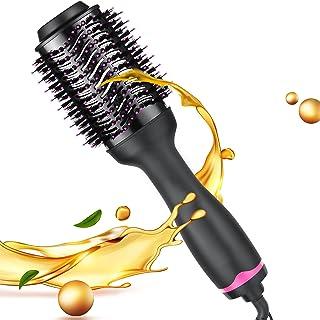 Hot Air Brush, Hair Dryer Brush, Hair Dryer & Volumizer Hair Air Styler Brush, Multifunctional Blow Dryer Brush (Rose_Red)
