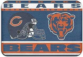 Dalean Chicago Bears Anti-Sliding Door Mat Floor Mat,Do Not Fade,15.75inx23.62in,Suitable Indoor Floor MATS Such As Entrance, Bathroom,Bedroom,Toilet,Etc