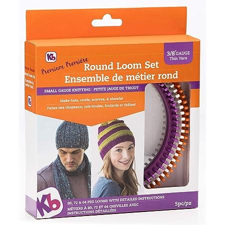 Authentic Knitting Board KB Round Knitting Loom Set, Premium Quality, 24cm x 24cm
