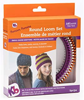 Authentic Knitting Board 'Premium' Round Loom Set, 3/8