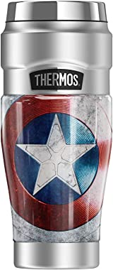Marvel - The Falcon And The Winter Soldier Wield, Captain America Shield THERMOS STAINLESS KING Stainless Steel Travel Tumble