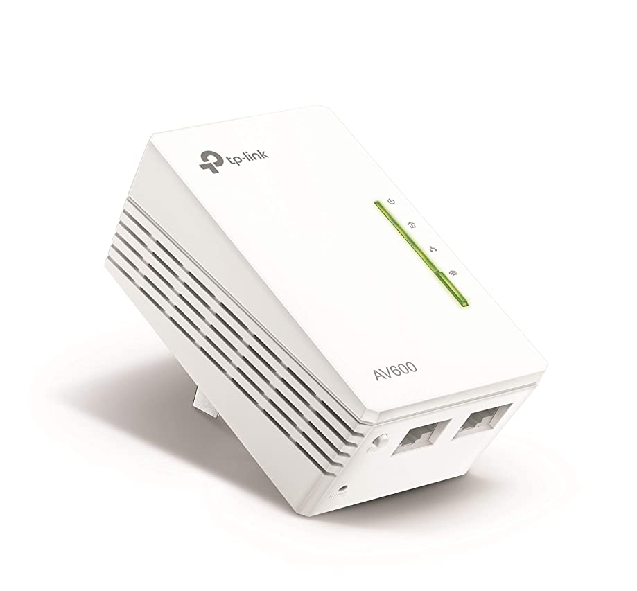 TP-Link AV600 Powerline WiFi Extender - N300 WiFi, Single Adapter(TL-WPA4220)
