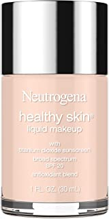 Neutrogena Healthy Skin Liquid Makeup Foundation, Broad Spectrum SPF 20 Sunscreen, Lightweight & Flawless Coverage Foundation with Antioxidant Vitamin E & Feverfew, Natural Ivory, 1 fl. oz