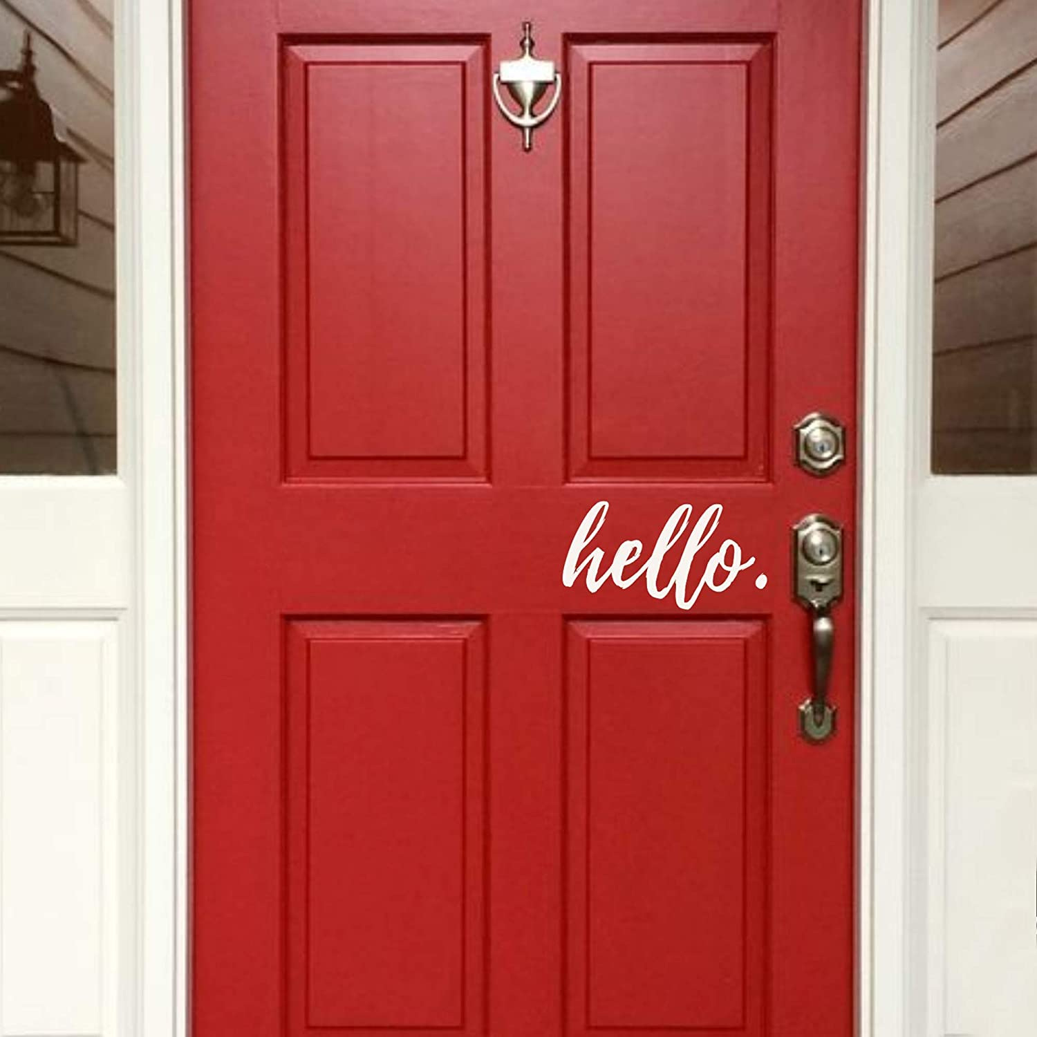 Back40Life - Hello Front Free shipping on posting reviews Vinyl Door Super beauty product restock quality top Decal E-005e
