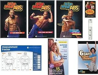 Hip Hop Abs 3 DVD Bundle (Last Minute Abs/Hips, Buns & Thighs/Fat Burning Cardio Total Body Burn + Ab Sculpt Secrets to Flat Abs) w/Tape Measure & Measurement Card