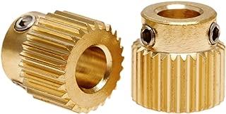 2Pcs Mk8 Extruder Drive Gear 26 Teeth Copper 11Mm X 11Mm For 3D Printer Makerbot