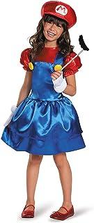 0179ec82e3c774 マリオ 子供 女の子用 ハロウィン コスチューム スーパーマリオブラザーズ コスプレ ゲーム L Size