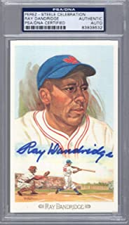 Ray Dandridge Hand Signed Hall Of Fame Perez Steele Card Slabbed - PSA/DNA Certified - Baseball Slabbed Autographed Cards