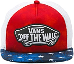 Vans Women's Beach Girl Trucker Hat Cap - American Flag