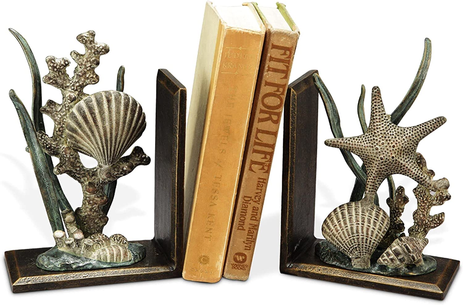 SPI Home Pair of Cast Super popular Max 80% OFF specialty store Aluminum Iron and Bookends Shell