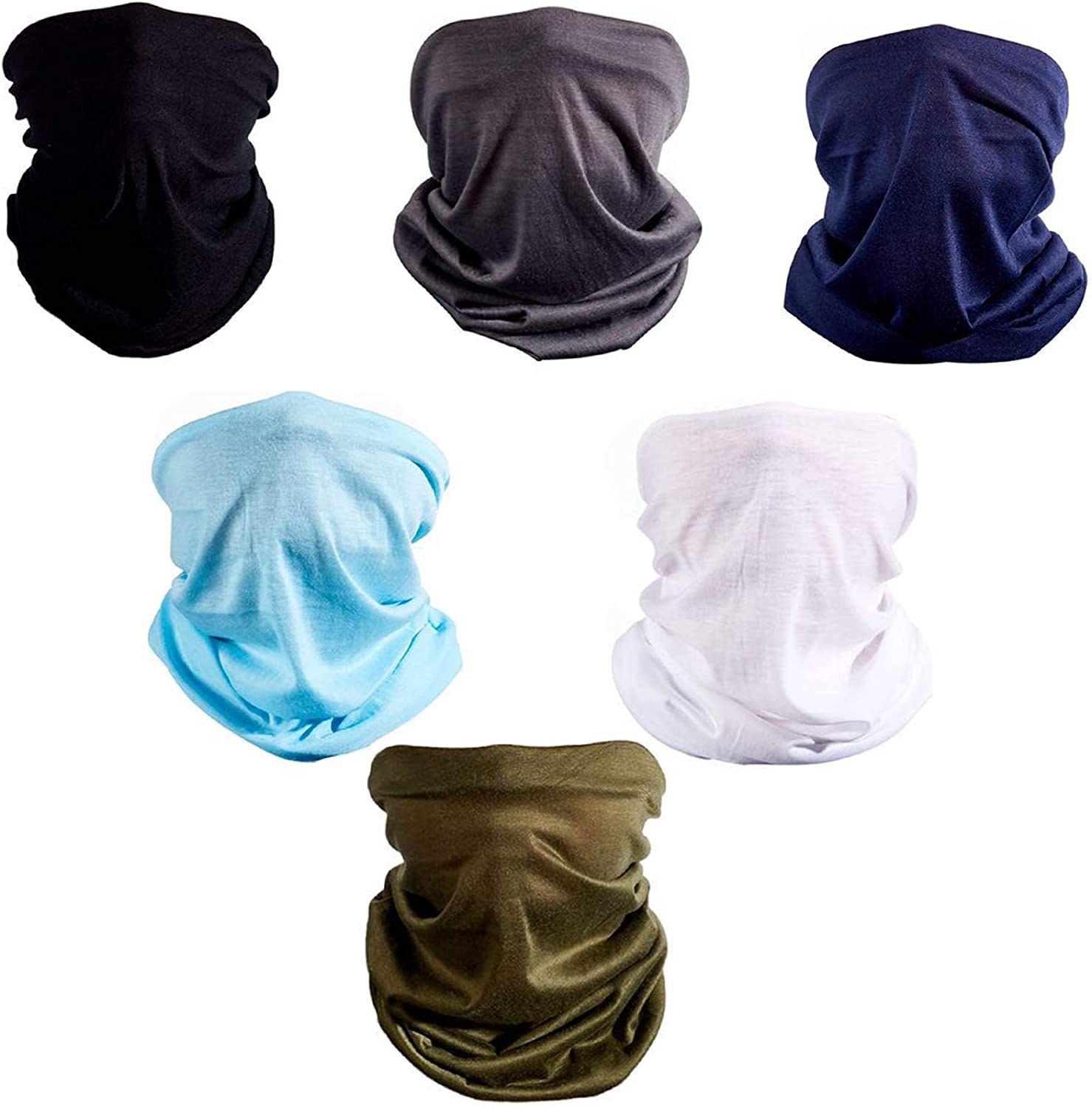 Evanno Neck Gaiters Face Scarf Masks for Women and Men,Multi-Purpose Bandanas Balaclavas for Outdoor-Multipack