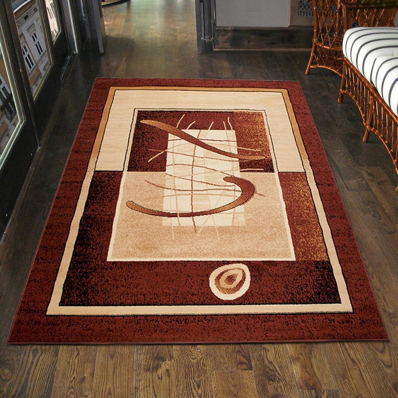 Carpeto Teppich Klassisch Modern Kurzflor Muster Retro Meliert in Braun Top Preis - KO Tex (250 x 350 cm)