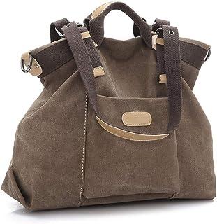 Ladies Handbag, Ladies Beach Bag, Ladies Handbag, Large Canvas Handbag Shoulder Bag Messenger Bag Shopping Folding Handbag Beach Travel Bag SYLOZ