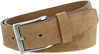 Men's Casual Genuine Suede Leather Belt 1 1/2