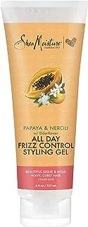 SheaMoisture Frizz Control Styling Gel for Curly Hair, Papaya and Neroli, Alcohol Free Hair Gel, 9.5 Oz