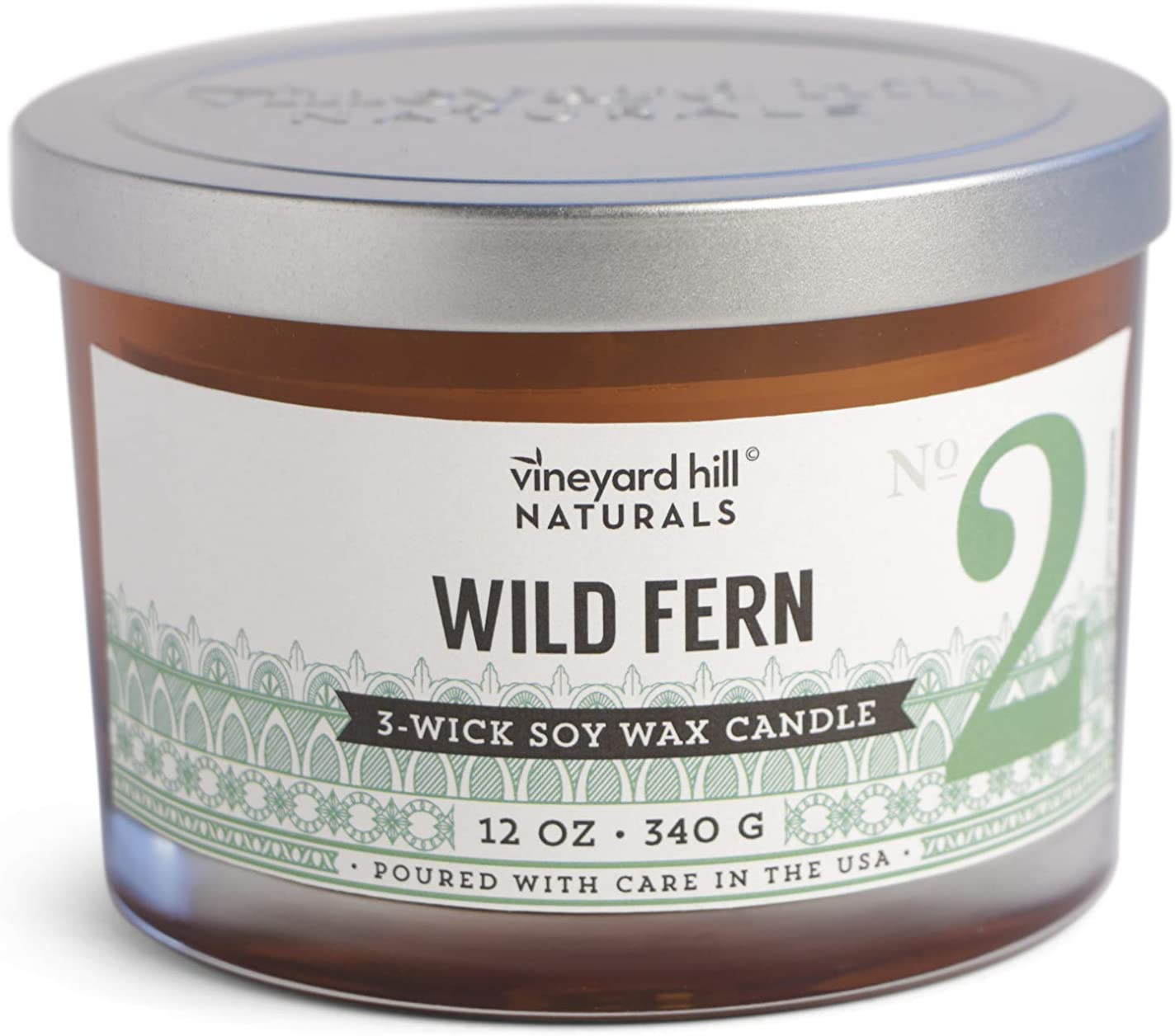 Vineyard Hill Naturals Mandarin /& Redwood Candle 8oz Soy Wax Hand Poured