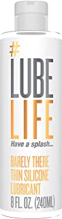 #Lubelife Thin Silicone Based Long Lasting Lubricant, 8 Oz Intimate Lube for Sensitive Skin - for Men, Women and Couples (Free of Parabens and Glycerin; Water Resistant)