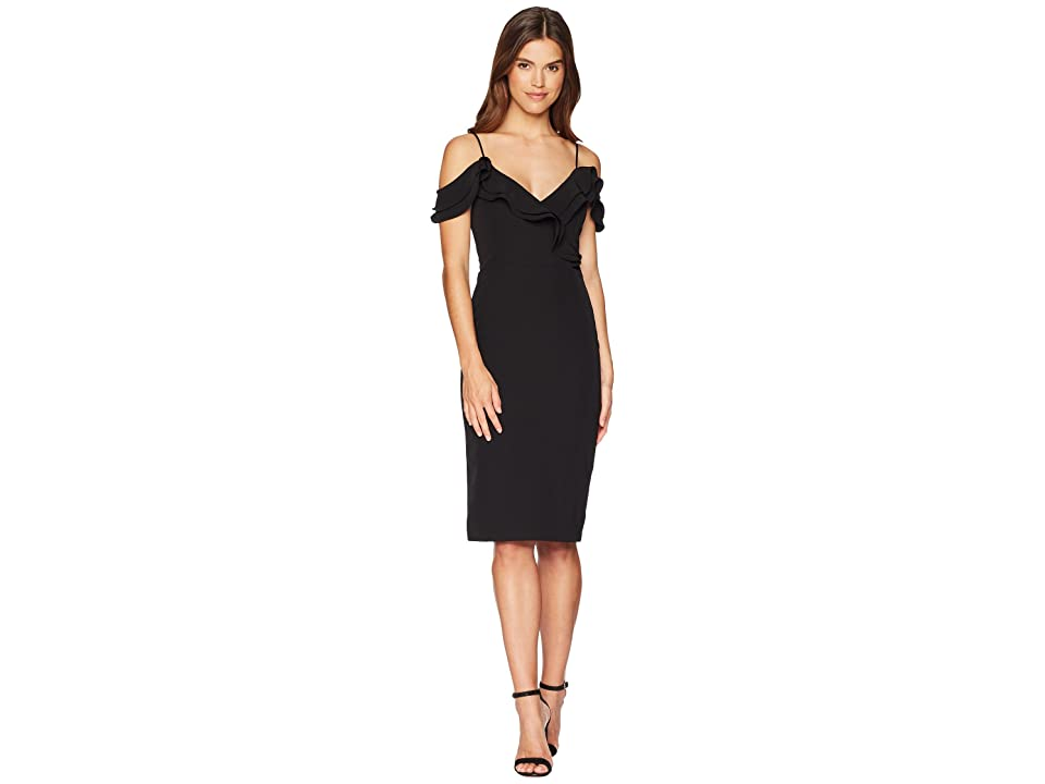 Bardot Raene Frill Dress (Black) Women