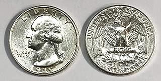 1935 silver quarter