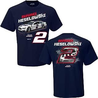 Checkered Flag Brad Keselowski 2019 Miller Lite Contender NASCAR T-Shirt (XXX-Large) Navy