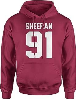 Sheeran 91 Jersey Style Birthday Year Unisex Adult Hoodie