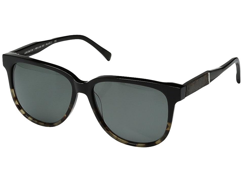 Shwood Mckenzie Acetate Wood Polarized (Black Olive/Elm Burl/Grey Polarized) Polarized Sport Sunglasses