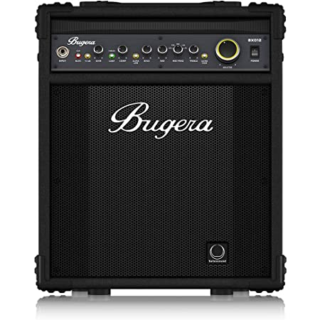 """BUGERA BXD12 1000-Watt 2-Channel Bass Amplifier with 12"""" Turbosound Speaker FBQ Spectrum Analyzer Black"""