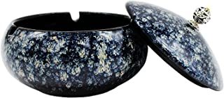 GKYZBB Outdoor ashtray and lid, windproof ashtrays for cigarettes, ceramic ashtray for home office interior decoration