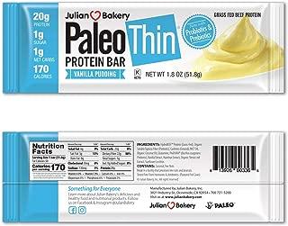 New! Paleo Protein Bar® (Vanilla Pudding) 12 Bars (20g Grass-Fed Beef) (Low Net Carbs) (w/Organic Prebiotics + Probiotics) (Gluten Free)
