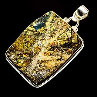 Ana Silver Co Rainbow Pyrite Druzy 925 Sterling Silver Pendant 1 7/8