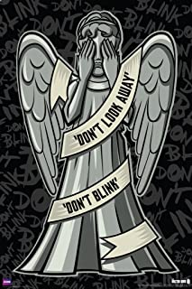 Doctor Who Weeping Angels Don't Look Away Illustration Sci Fi British TV Television Show Poster Print 24x36