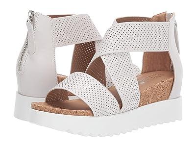 Steven NC-Klein Wedge Sandal (White Leather 2) Women