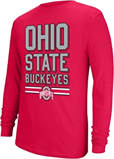 NCAA Ohio State Buckeyes Boys Long Sleeve Tee, True Red