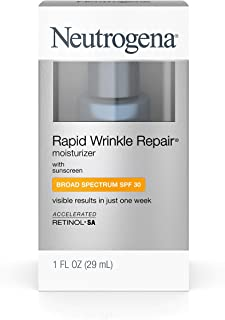 Neutrogena Rapid Wrinkle Repair Daily Hyaluronic Acid Retinol Face Moisturizer, Anti..