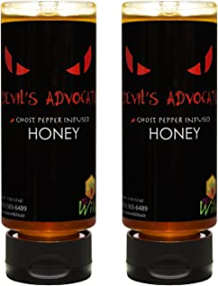 Bee Wild 100 % Pure Raw Organic Unfiltered Honey Infused with Ghost Pepper, Devil 12 ounce Pack of 2