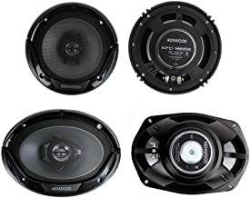 "Kenwood KFC-1665S + KFC-6965S 6.5"" 300W 2-Way Plus (2) 6×9 400W 3-Way Car Speakers"