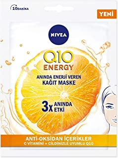 Nivea Face Q10 Energy Kağıt Yüz Maskesi 28 gr (1 x 28 gr)
