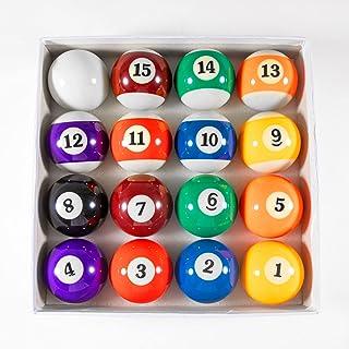 "Billiard Balls Set 2-1/4"" Regulation Size Pool Table Balls for Replacement (16 Resin Balls)"