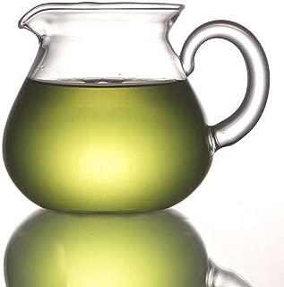 ELITEA Clear Glass Milk Tea Serving Pitcher Cream Pitcher Mug 200ml / 7 fl.oz for Tea