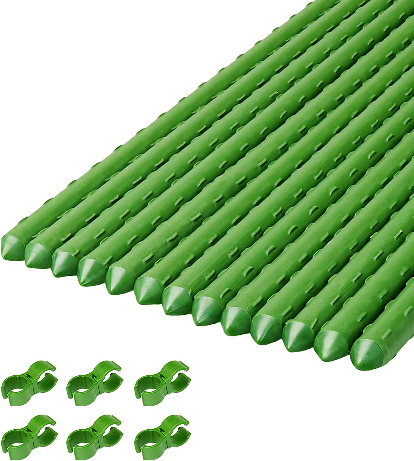 Mimeela 4Ft Tomato depot Stakes 5 ☆ very popular Plant Support Sticks Garden Sturdy St