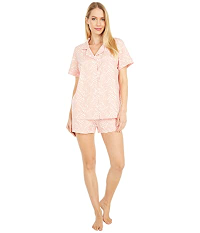 BedHead Pajamas Organically Grown Cotton Elastane Short Sleeve Classic Shorty PJ (Wild One) Women