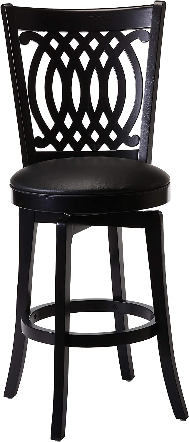 Hillsdale Van Draus Swivel Counter Max 76% OFF Cash special price and Stool Leg Black Flare