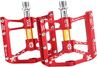Alston Mountain Bike Pedals, Ultra Strong Colorful Cr-Mo CNC Machined 9/16